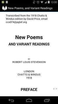 New Poems and Variant Reading poster