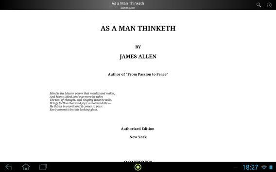 As a Man Thinketh apk screenshot