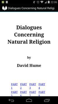 Natural Religion by Hume poster