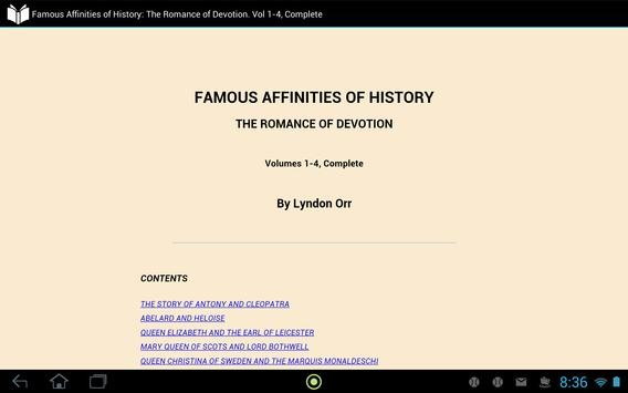 Famous Affinities of History apk screenshot