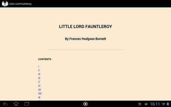 Little Lord Fauntleroy apk screenshot
