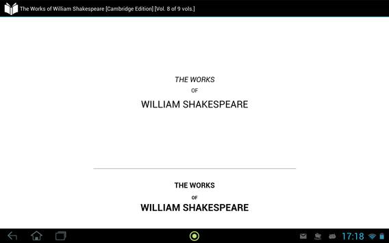 Works of William Shakespeare 8 apk screenshot