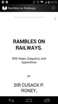 Rambles on Railways poster