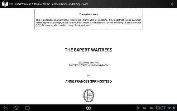 The Expert Waitress apk screenshot