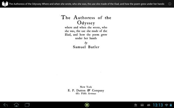 The Authoress of the Odyssey apk screenshot
