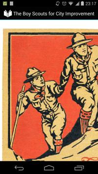 Boy Scout for City Improvement poster