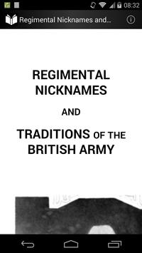 Traditions of the British Army poster