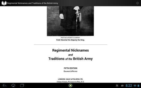 Traditions of the British Army apk screenshot