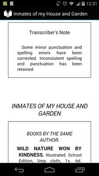 Inmates of my House and Garden poster
