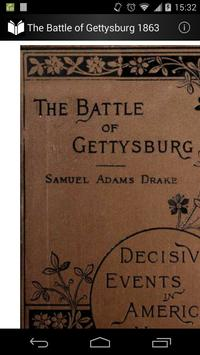 The Battle of Gettysburg 1863 poster