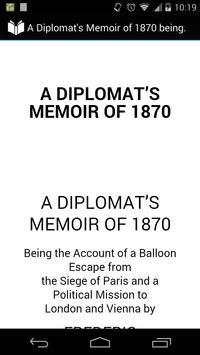 A Diplomat's Memoir of 1870 poster