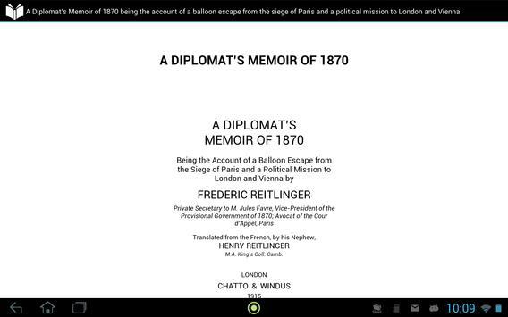 A Diplomat's Memoir of 1870 apk screenshot