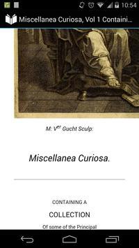 Miscellanea Curiosa, Vol 1 apk screenshot
