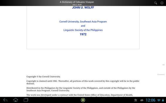 Dictionary of Cebuano Visayan apk screenshot