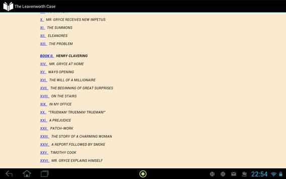 The Leavenworth Case apk screenshot