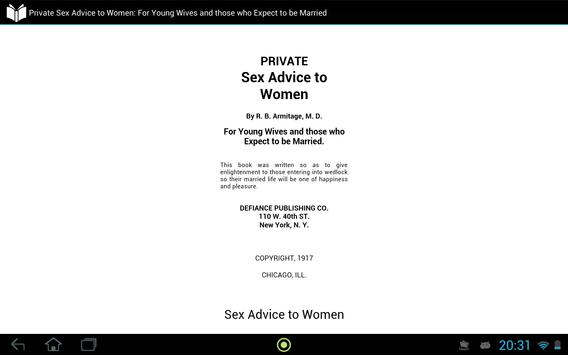 Private Sex Advice to Women apk screenshot