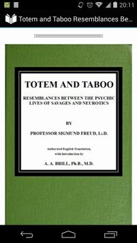 Totem and Taboo by Freud poster