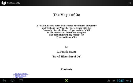 The Magic of Oz apk screenshot