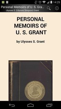 Memoirs of U. S. Grant poster