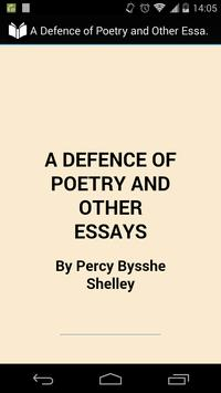 A Defence of Poetry poster