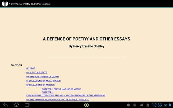 A Defence of Poetry apk screenshot