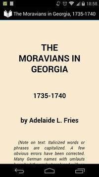 Moravians in Georgia poster