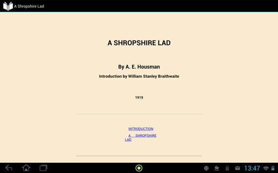 A Shropshire Lad apk screenshot