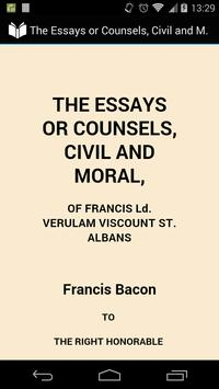Essay or Counsel,Civil & Moral poster