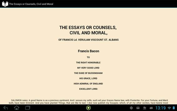 Essay or Counsel,Civil & Moral apk screenshot