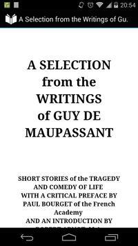 Guy De Maupassant, Vol. I poster
