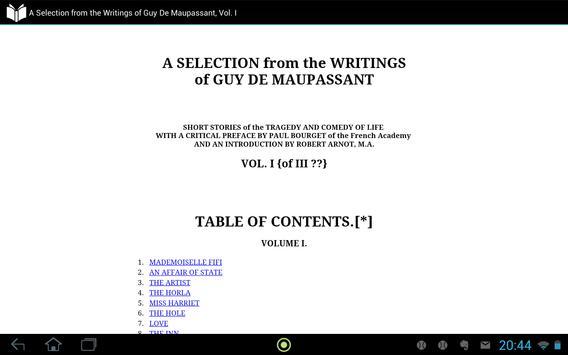 Guy De Maupassant, Vol. I apk screenshot