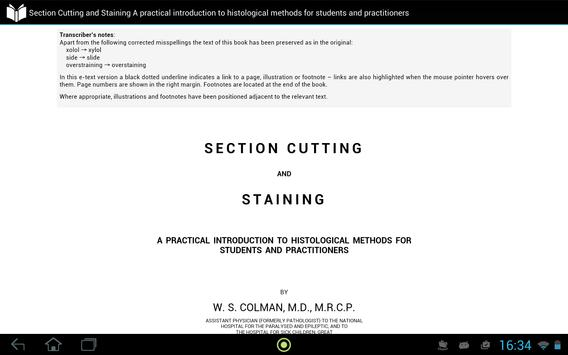 Section Cutting and Staining apk screenshot
