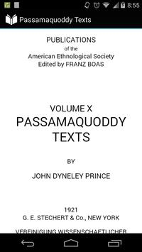 Passamaquoddy Texts poster