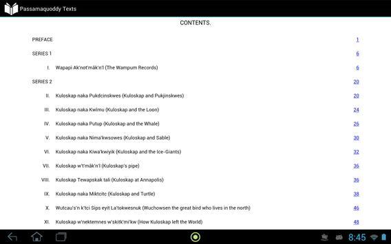Passamaquoddy Texts apk screenshot