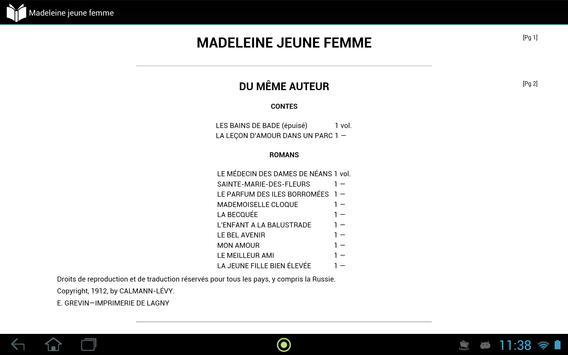 Madeleine jeune femme apk screenshot