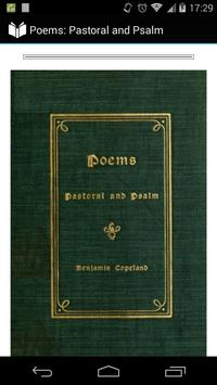 Poems: Pastoral and Psalm poster