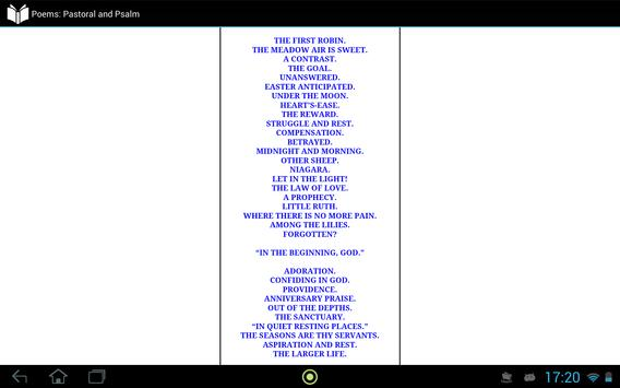 Poems: Pastoral and Psalm apk screenshot