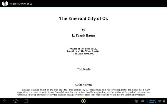 The Emerald City of Oz apk screenshot