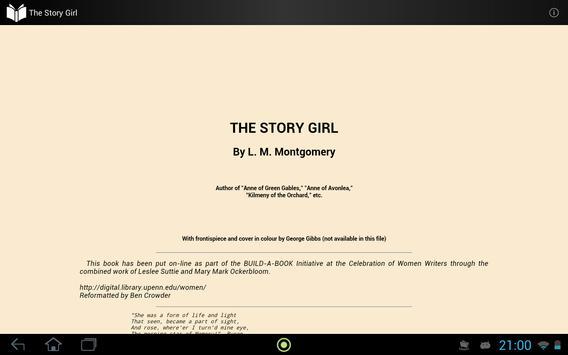 The Story Girl apk screenshot