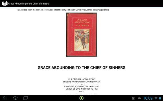 Grace Abounding to Sinner apk screenshot