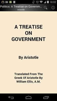A Treatise on Government poster