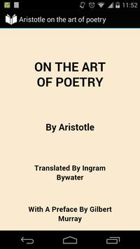 The Art of Poetry by Aristotle poster