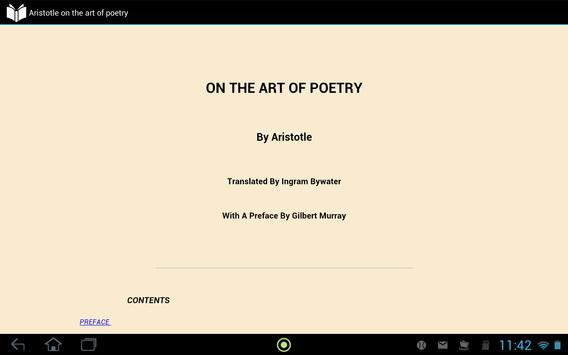 The Art of Poetry by Aristotle apk screenshot