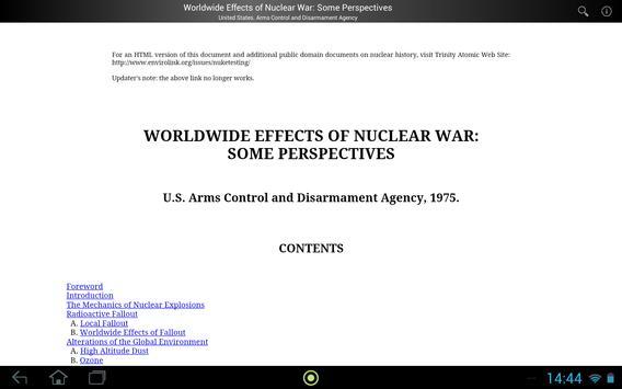 Effects of Nuclear War apk screenshot