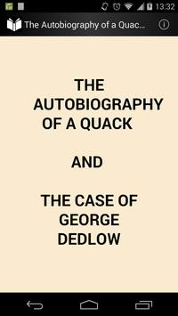 The Autobiography of a Quack poster