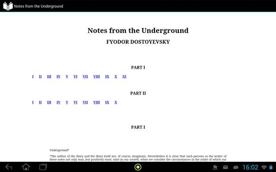 Notes from the Underground apk screenshot