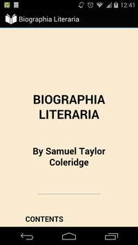 Biographia Literaria poster