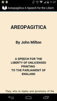 Areopagitica by John Milton poster