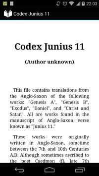 Codex Junius 11 poster