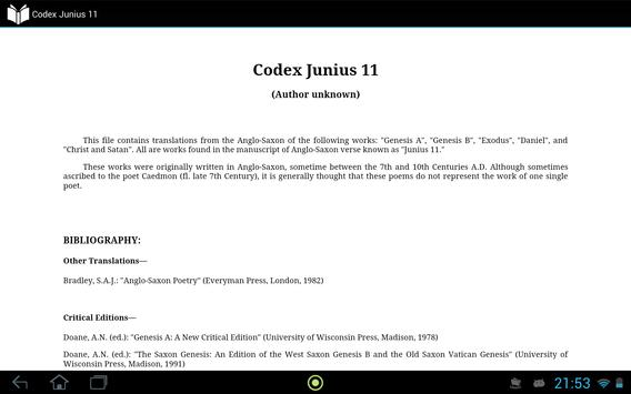 Codex Junius 11 apk screenshot